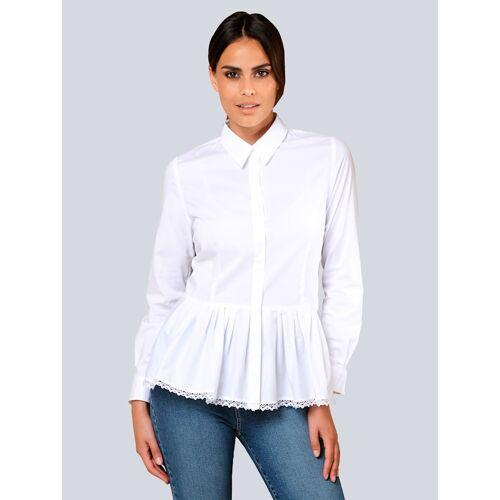 Alba Moda Bluse mit angesetzter Faltenlage, weiß