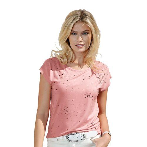 AMY VERMONT Shirt mit Strasssteinen, rosé