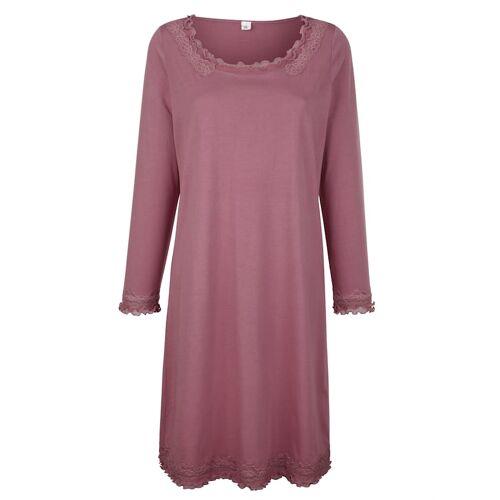 Simone Nachthemd mit romantischen Spitzendetails, rosé