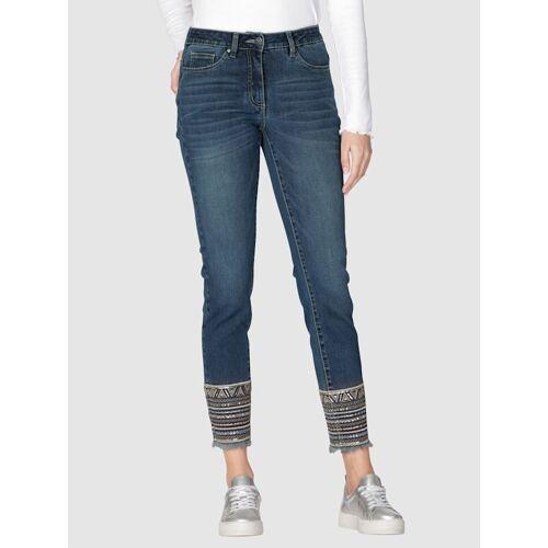 AMY VERMONT Jeans Mit Stickerei am Saum, blau