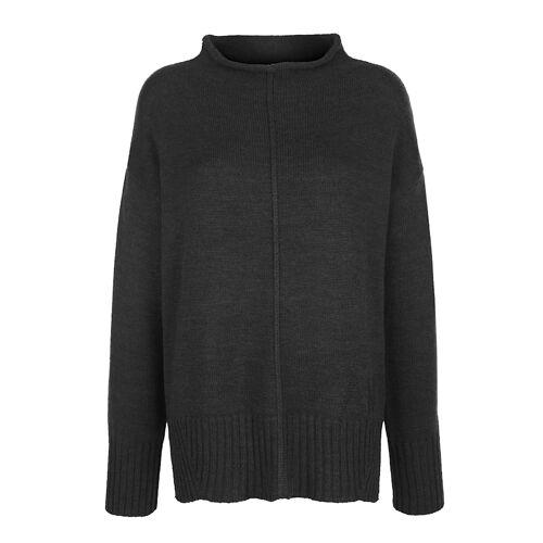 Alba Moda Pullover in reduzierter Oversized-Form, grau