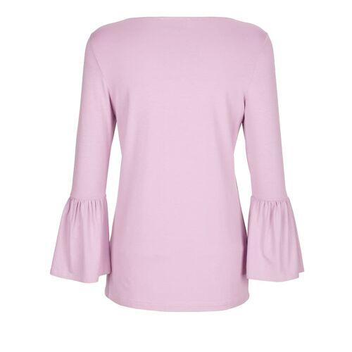 AMY VERMONT Shirt mit femininer Dekoration, rosé