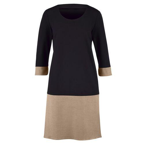 Alba Moda Kleid mit breiter Saumblende, schwarz