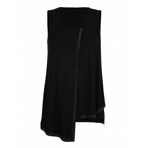 Alba Moda Top mit Strasssteinen, schwarz