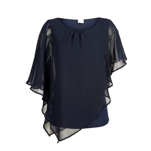 Alba Moda Bluse im modischen Lagenlook, blau