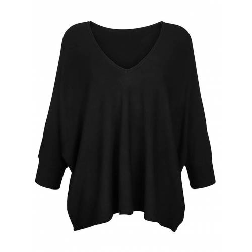 Alba Moda Pullover in lässiger Form, schwarz