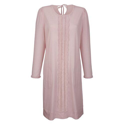 Simone Nachthemd mit romantischer Spitzenbordüre, rosé