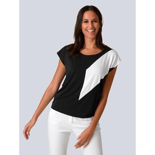 Alba Moda Shirt mit Kontrasteinsatz, schwarz