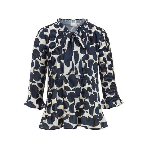 Alba Moda Bluse aus plissierter Ware, blau