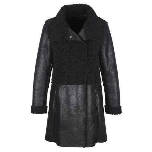 Alba Moda Mantel in Lammfell-Optik, schwarz