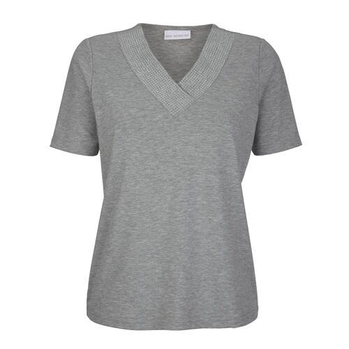 AMY VERMONT Shirt mit Metallplättchen, grau