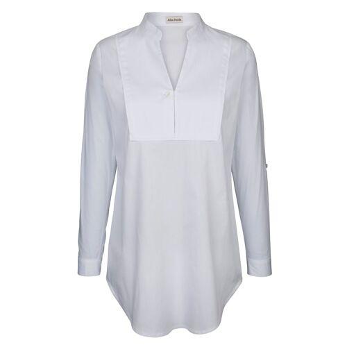 Alba Moda Bluse in langer Form, weiß