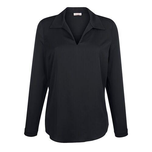 Alba Moda Bluse aus satinierter Ware, blau