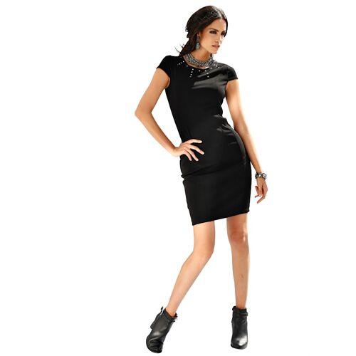 AMY VERMONT Jerseykleid mit metallischer Dekoration, schwarz
