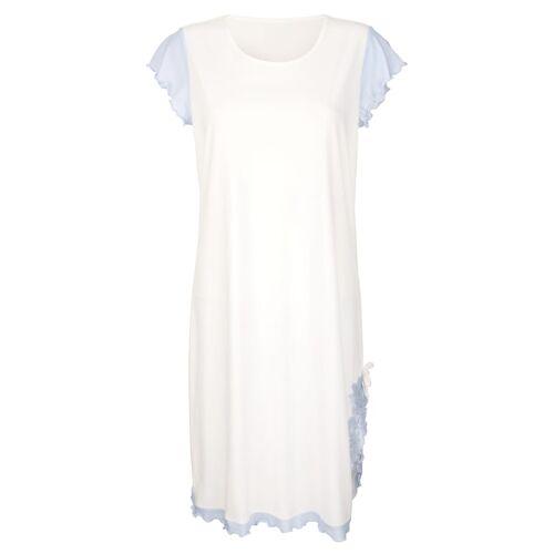 Simone Nachthemd mit elegantem Spitzenmotiv, blau