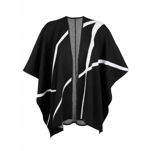 Alba Moda Strickjacke in modischer Capeform, schwarz