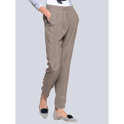 Alba Moda Hose aus hochwertiger Cupro-Qualität, grau