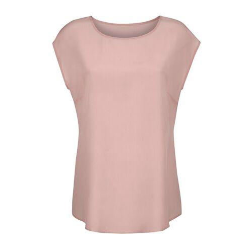 Alba Moda Bluse aus reiner Seide, rosé