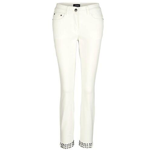 AMY VERMONT Jeans mit Strasssteinen, weiß