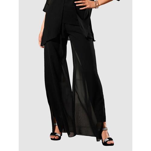 Alba Moda Hose in modischer 2-in-1 Form, schwarz