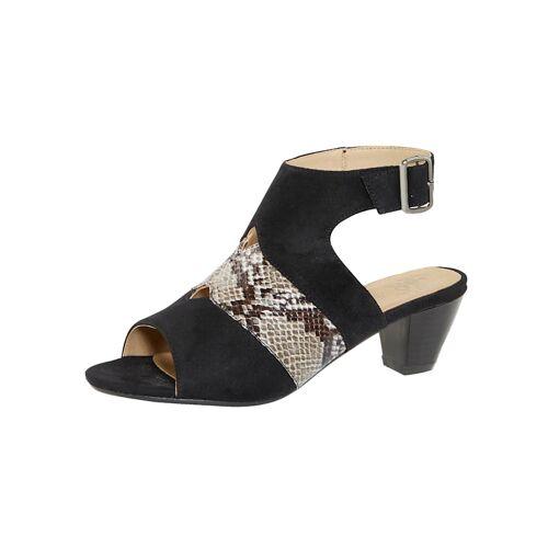 Liva Loop Sandale mit variablem Fesselriemchen, schwarz
