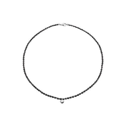 Diemer Diamant Collier mit schwarzen Diamanten aus schwarzen Diamanten, schwarz