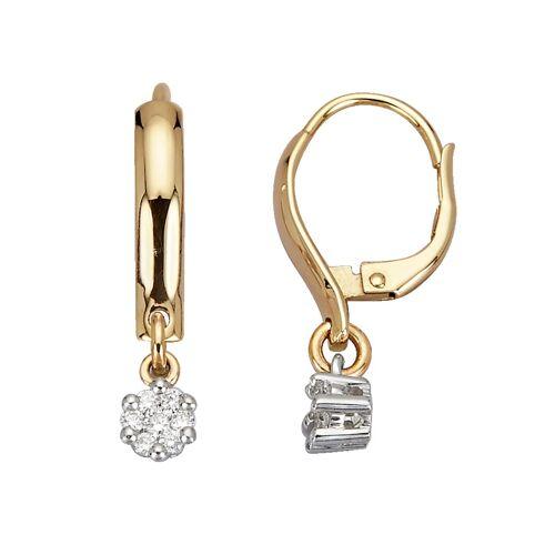 Diemer Diamant Ohrringe mit Brillanten, gold