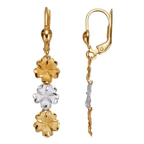 Diemer Highlights Blüten-Ohrringe, gold