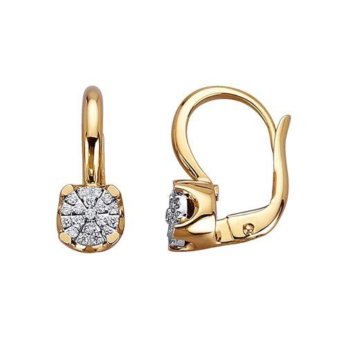 Diemer Diamant Ohrringe mit Brillanten mit Brillanten, gelb