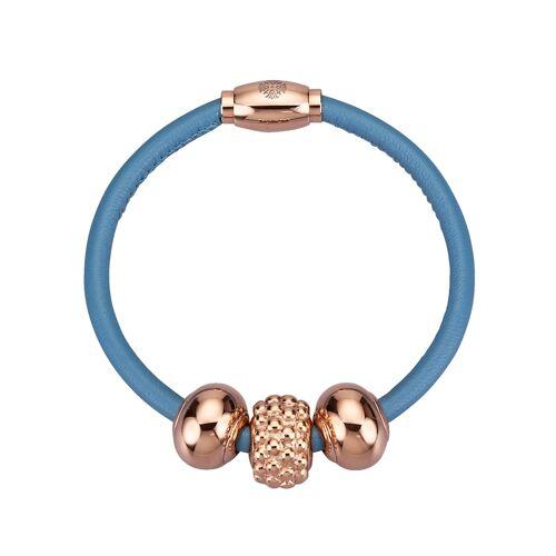 Qudo Armband aus Edelstahl, blau