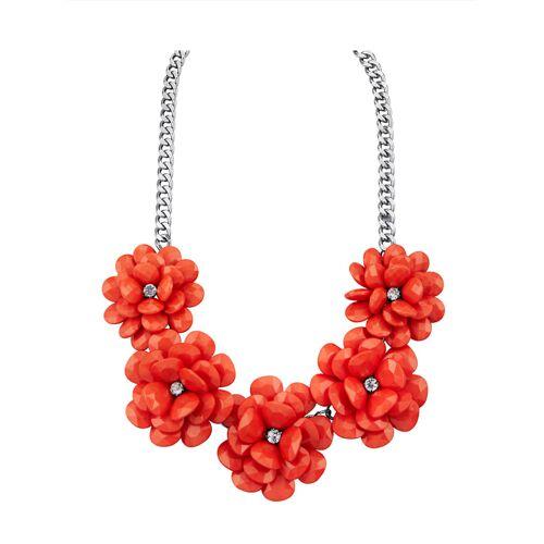 albamoda.de Blumencollier, orange