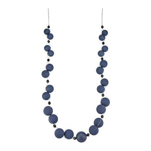 albamoda.de Halskette mit blauen Kugeln, blau