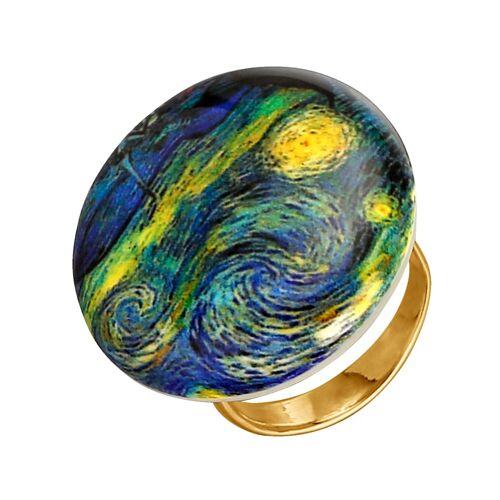 Diemer Gold Muranoglas-Ring, multicolor