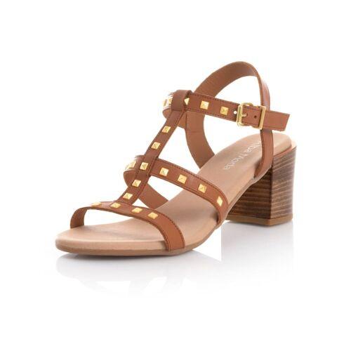 Alba Moda Sandalette mit Nieten, braun