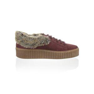 Alba Moda Sneaker mit Kunstfell, rot