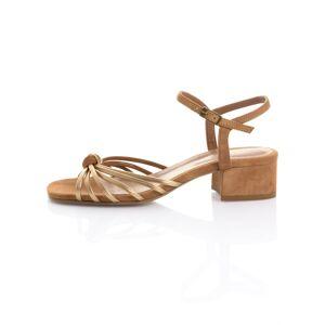 Alba Moda Sandalette aus weichem Ziegenveloursleder, braun