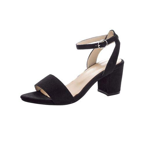 albamoda.de Sandale in trendiger Optik, schwarz