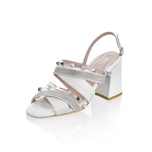 Alba Moda Sandalette mit Nieten, weiß