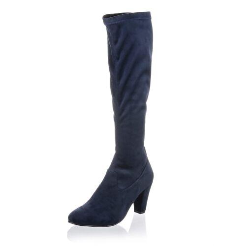 Alba Moda Stiefel in Veloursoptik, blau