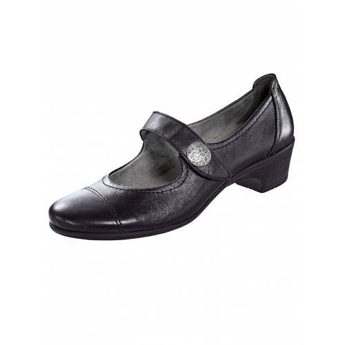 Naturläufer Slipper in eleganter Optik, schwarz