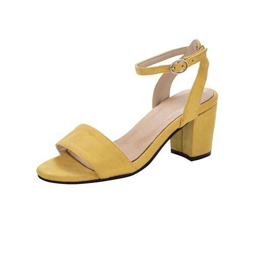 albamoda.de Sandale in trendiger Optik, gelb