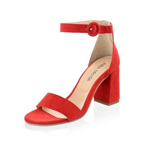 Alba Moda Sandalette aus hochwertigem Veloursleder, orange