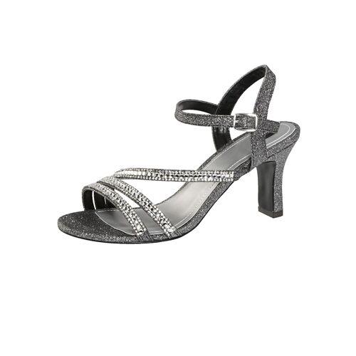 Liva Loop Sandalette mit eleganter Steinchenzier, grau