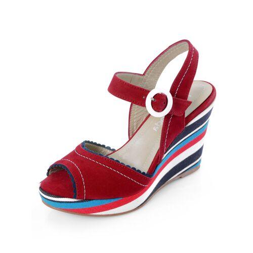 Alba Moda Sandalette mit bequemen Keilabsatz, rot