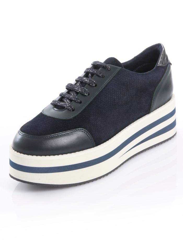 Alba Moda Sneaker mit hoher Plateausohle, braun