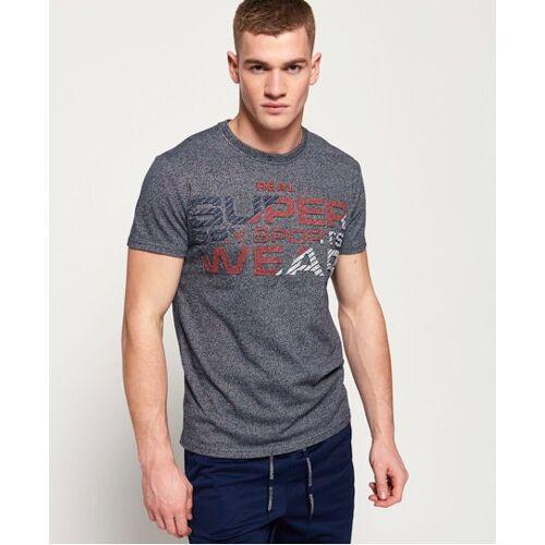 Superdry Sport T-Shirt mit Überprägung XL blau