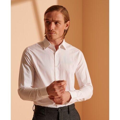 Superdry Modernes Tailors Hemd L weiß