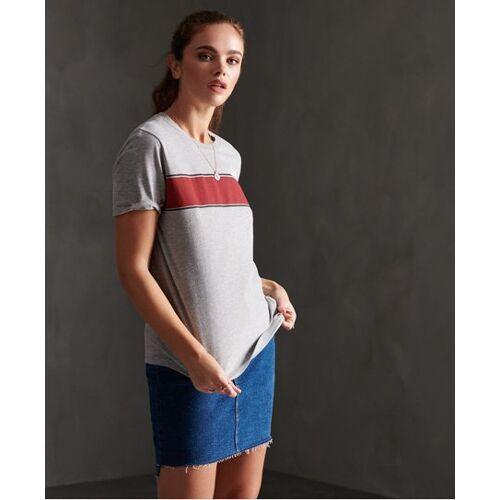 Superdry Retro T-Shirt mit Streifen 36 grau
