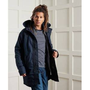 Superdry Service Midweight Parka S marineblau