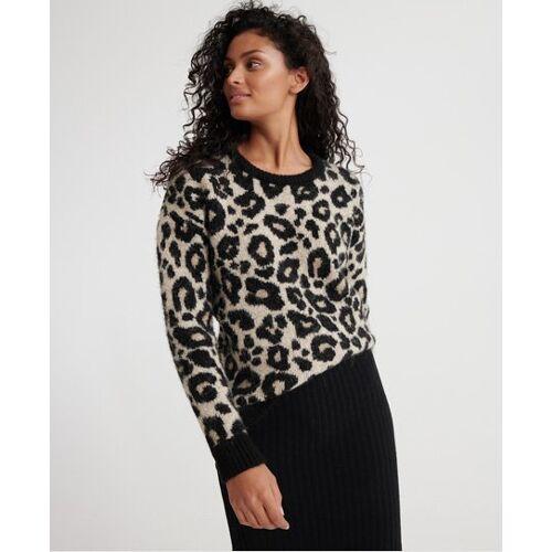 Superdry Lisa Pullover mit Leoparden-Print 44 braun